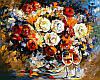 Раскраски для взрослых 40×50 см. Розы и вино Художник Леонид Афремов