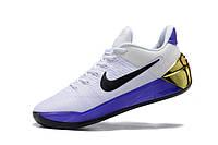 Мужские баскетбольные кроссовки Nike Kobe 12 AD (White/Purple/Gold) , фото 1