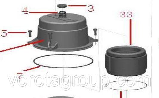 Статор электродвигателя привода ASL1000 AN-MOTORS ASL.102/1000