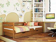 Кровать одноярусная Нота с ящиками массив дерева , фото 2