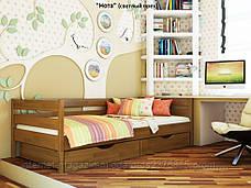 Кровать одноярусная Нота с ящиками массив дерева , фото 3