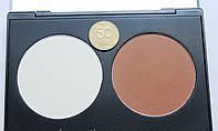 Палитра сухих контуров / корректоров  2 цвета  коричневый и белый , фото 1