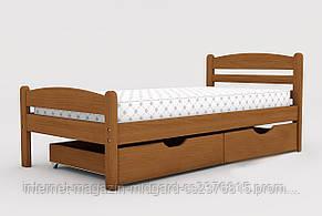 """Односпальная кровать """"Вега""""  массив дерева с ящиками 190*80 см, фото 2"""