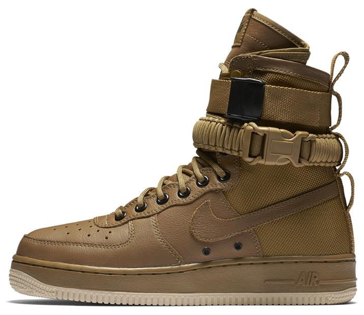 Мужские кроссовки Nike Special Forces Air Force 1 Gum Light Brown 857872-200, Найк Аир Форс