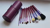 Набор кистей  В ТУРБУСЕ фиолетовые 12 штук