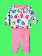 Пижама махровая для девочки 1-5 лет Бемби