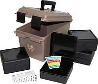 Коробка MTM Ammo Can Combo с органайзером на 400 патронов калибр 308 Win; 30-06 темно-коричневый