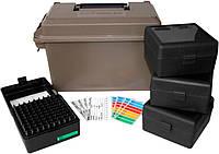 Коробка MTM Ammo Can Combo с органайзером на 400 патронов калибр 223 Rem темно-коричневый