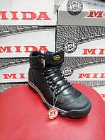 Мужские ботинки зимние МИДА 14937 из натуральной кожи на шерсти.