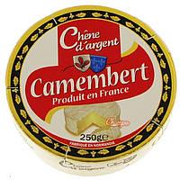 Мягкий жирный Сыр Камамберт camembert chene d'argent 250g из коровьего молока