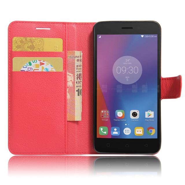 Lenovo K6 K33a48 чехол книжка PREMIUM красный