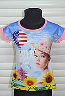 Оригинальные футболки для девочек.Размеры 98-128 см.Фирма S&D.Венгрия