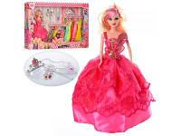 Кукла с нарядом 28см, платье 10шт, дочка 10см, замок, D23-2