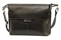 Кожаная мужская сумка Tom Stone 508 черная