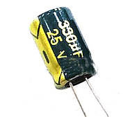 Конденсатор электролитический 330uF 25V 8X12 LOW ESR Chengx