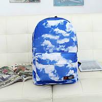 Голубой городской рюкзак Облака, фото 1