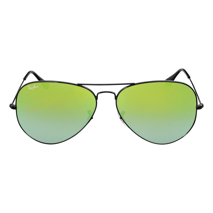 Солнцезащитные очки Ray-Ban Aviator Green Gradient Mirror RB30250024J62