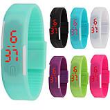 Детские наручные часы-браслет Sport Led Watch (черные), фото 4