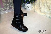 Женские весенние ботинки, цвет черный