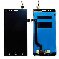 Дисплей (экран) для Lenovo A7020 Vibe K5 Note + с сенсором (тачскрином) черный Оригинал