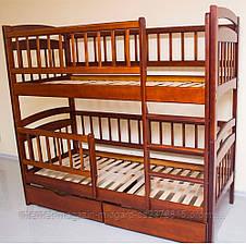 Кровать двухъярусная трансформер Карина Люкс массив дерева полная комплектация, фото 2