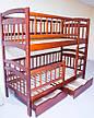 Кровать двухъярусная трансформер Карина Люкс массив дерева полная комплектация, фото 3