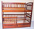 Кровать двухъярусная трансформер Карина Люкс массив дерева полная комплектация, фото 4