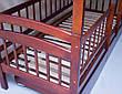 Кровать двухъярусная трансформер Карина Люкс массив дерева полная комплектация, фото 5