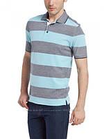 Мужское поло LC Waikiki светло-серого цвета в голубые полоски