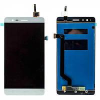 Дисплей (экран) для Lenovo A7020 Vibe K5 Note + с сенсором (тачскрином) белый Оригинал