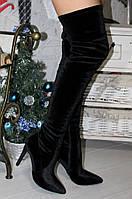 Женские демисезонный ботфорты, цвет черный