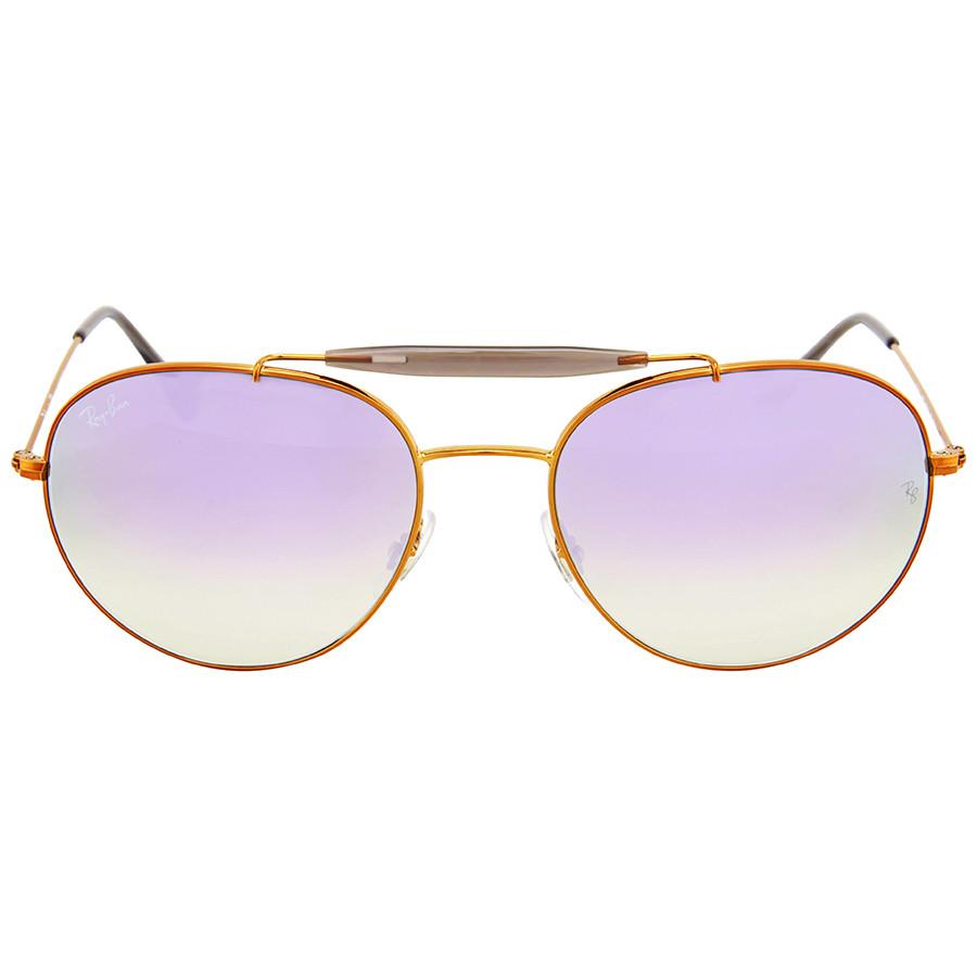 Солнцезащитные очки Ray-Ban Round Lilac Gradient Flash B35401987X56