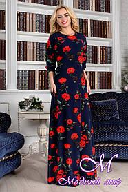 """Красивое женское платье в пол """"Лиа (цветочный принт)"""" (р.S) арт. Лиа (цветоч.принт) 8758"""