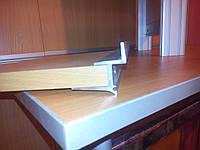 Алюминиевый профиль-держатель для полок толщиной 16мм