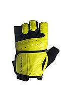 Желтые кожаные перчатки для зала PowerPlay унисекс