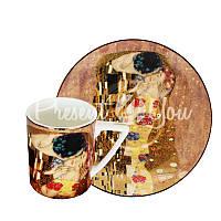 Кофейная чашка с блюдцем Г. Климт «Поцелуй», 100 мл.