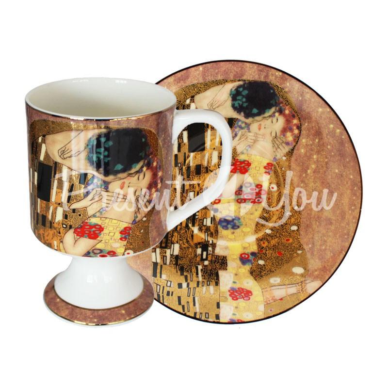 Чашка с блюдцем Г. Климт «Поцелуй», 350 мл.