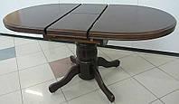 Деревянный раскладной обеденный стол A-17 орех