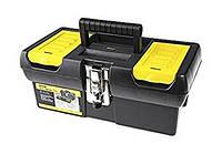 Ящик для инструмента серии 2000 пластмассовый с 2-мя встроенными органайзерами, лотком и металлическими замкам