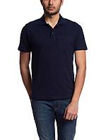 Мужское поло LC Waikiki темно-синего цвета с карманом