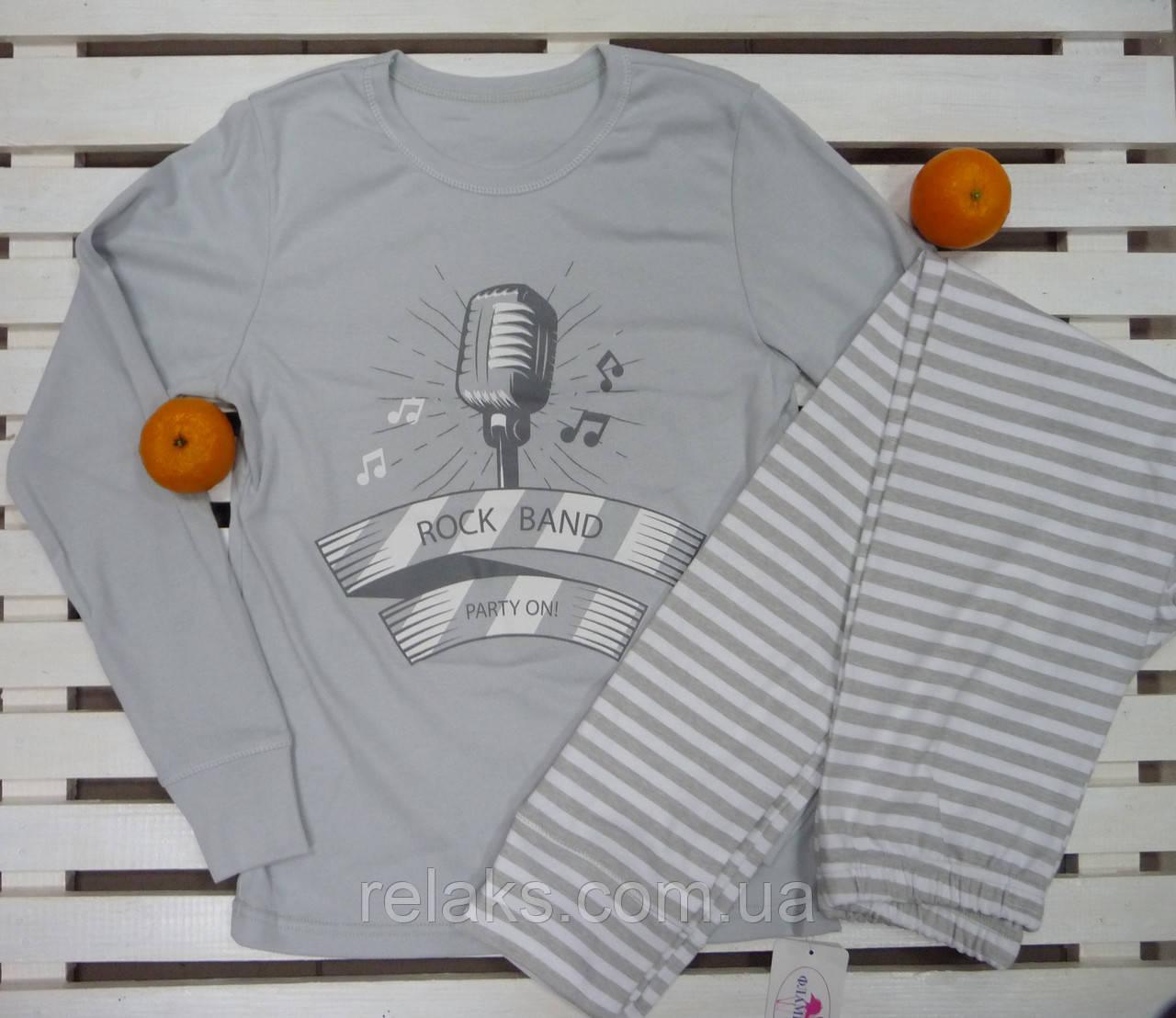 79669025a8e8 Пижама для мальчика подростка хлопковая рост 158 ТМ
