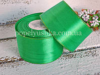 Стрічка з люрексом 5 см зелена