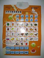 """Электронный музыкальный плакат """"Моя обучающая таблица""""  (алфавит, буквы, мелодии, цифры) 701838"""