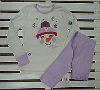 Трикотажная детская пижамка ТМ Фламинго рост 128 хлопковая