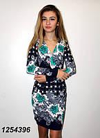 Трикотажное платье с треугольным вырезом 42 44 46 48