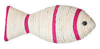Когтеточка для кошки Unizoo на подвесе Рыбка белая, 40х24 см