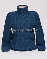 Теплый свитер женский вязаный р.48-50 джинс AL50-3