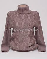 Теплый свитер женский вязаный р.48-50 капучино AL50-4