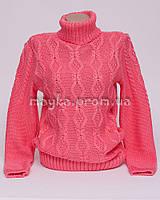 Теплый свитер женский вязаный р.48-50 коралл AL50-6