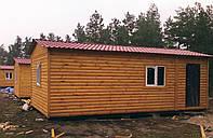Деревянный дом для базы отдыха